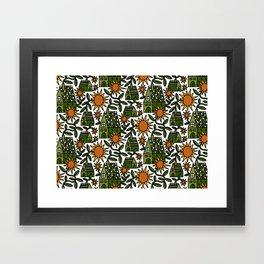 Sunflower City Framed Art Print