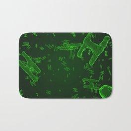 Abstract green virus cells Bath Mat