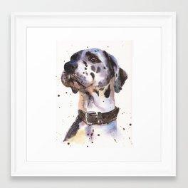 Great Dane, dog art, watercolor animals, watercolor Framed Art Print