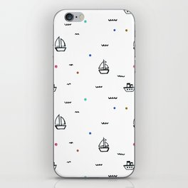 boats subtle pattern iPhone Skin