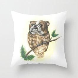BullOwl Throw Pillow