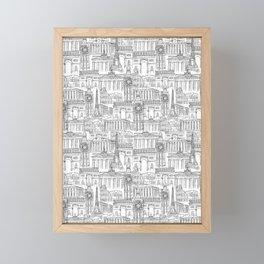 EUROPE LANDMARK PATTERN Framed Mini Art Print