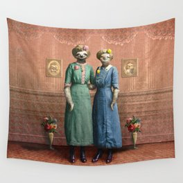 The Sloth Sisters at Home Wall Tapestry