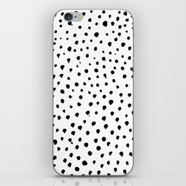 Dalmatian dots black iPhone Skin