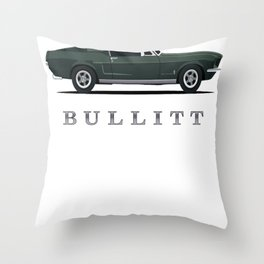 Mustang Bullitt Throw Pillow
