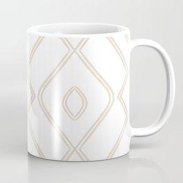Modern Boho Ogee in Tan Coffee Mug