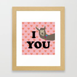 I llama you Framed Art Print