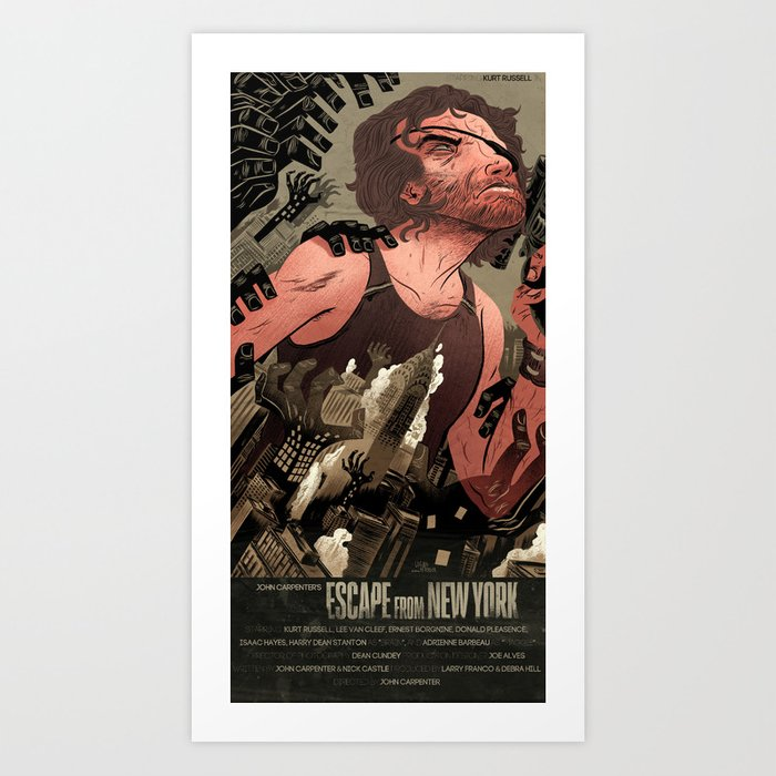 Escape From New York Poster Art Print By