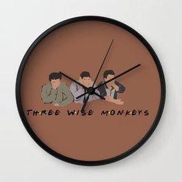 Three Wise Monkeys. Wall Clock