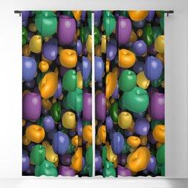 Mardi Gras Beads Blackout Curtain