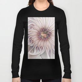 Flourish 2, Abstract Fractals Art Long Sleeve T-shirt