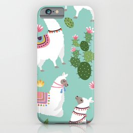 Llama Vibes iPhone Case