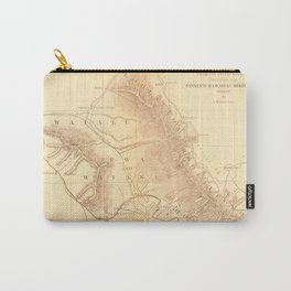 Vintage Map of Oahu Hawaii (1901) Carry-All Pouch