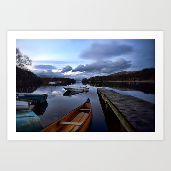 Boats on Coniston Water Art Print