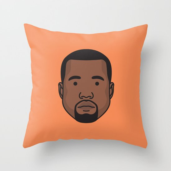 Mr West Throw Pillow