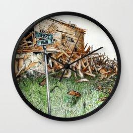 broken barn Wall Clock