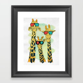 Giraffes Framed Art Print