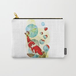 Koi Fish In Love Carry-All Pouch