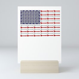 USA mechanic wrench nuts gift Mini Art Print