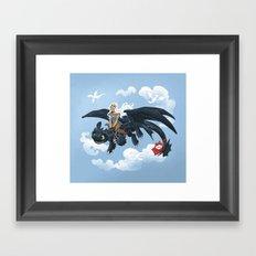 Dragon Rider Framed Art Print
