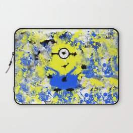 Splatter Painted Minion  Laptop Sleeve