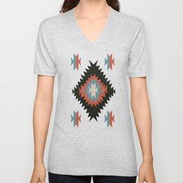 Southwestern Santa Fe Tribal Indian Pattern Unisex V-Neck