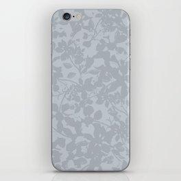 Broken but Flourishing Floral Pattern - Grey iPhone Skin