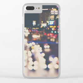 Las Vegas ... the neon town!  Clear iPhone Case