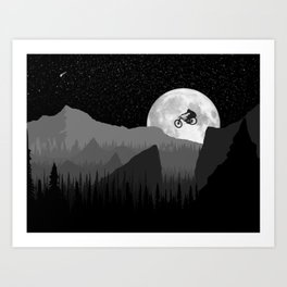 MTB Moon Art Print