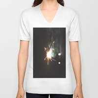 sparkle V-neck T-shirts featuring Sparkle by Alyson Cornman Photography