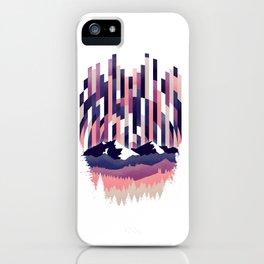 Sunrise in Vertical - Winter Purple iPhone Case