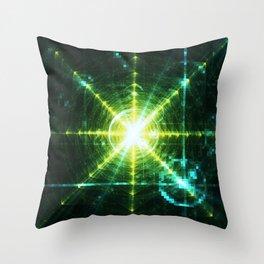 Pyramid Pixel Punk Throw Pillow