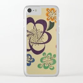 Flowers 2 Clear iPhone Case