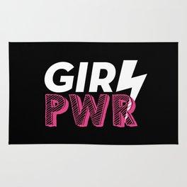 GRL PWR Hot Pink Typography Rug