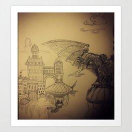 Utopia in the Clouds Art Print