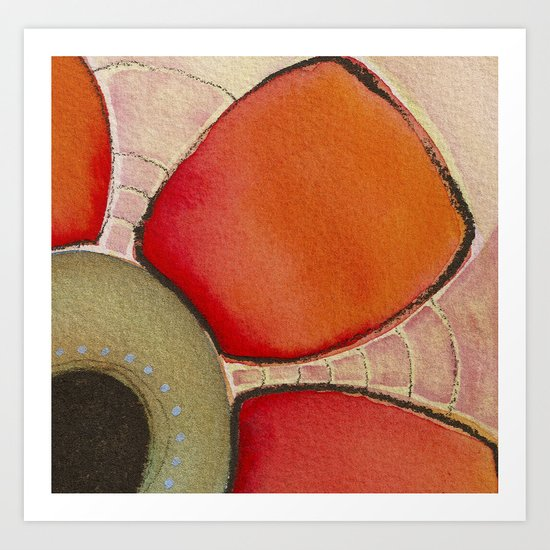 Tapas Abstract 2 Art Print