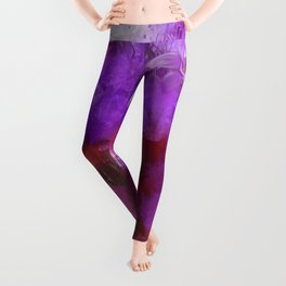 Free thoughts colorful painting Leggings