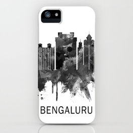 Bengaluru Karnataka Skyline BW iPhone Case