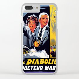 The Diabolical Doctor Mabuse Clear iPhone Case