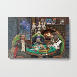 Our Favorite Monsters Playing Cards Metal Print