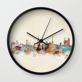 newcastle england skyline Wall Clock