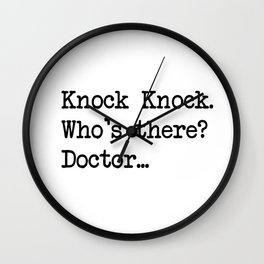 Knock-Knock 2 Wall Clock