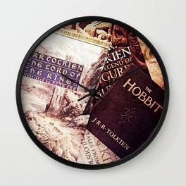 Tolkien Books Wall Clock
