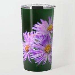 Bee Vibrant Beautiful Purple Flowers Travel Mug