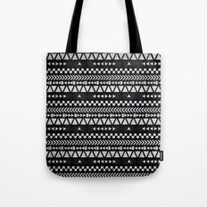Tribal Print in Black and White Tote Bag