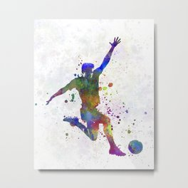 man soccer football player 05 Metal Print