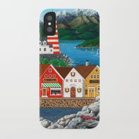 puffin iPhone & iPod Cases featuring Puffin Point by Kirbeekatz