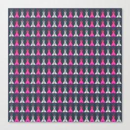 Pink Grey Native American Tipi Canvas Print