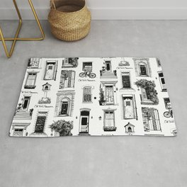 Old Town Alexandria Repeat B&W Rug