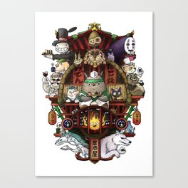 Ghibli Izakaya Print Coloured Canvas Print